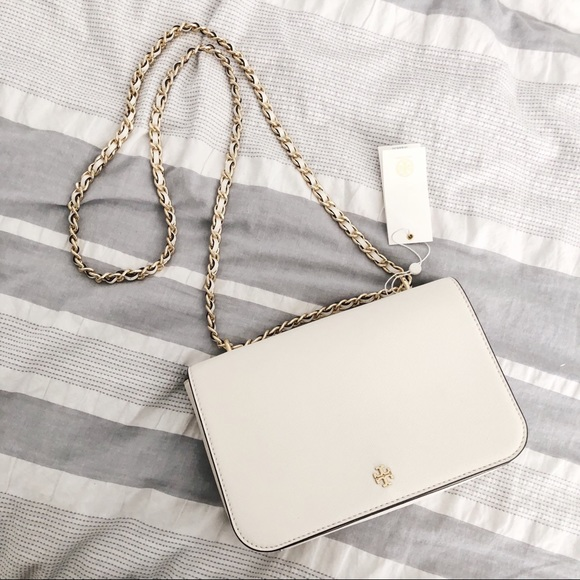 51790462a0 Tory Burch Bags | White Emerson Adjustable Shoulder Bag | Poshmark